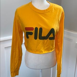 Yellow FILA Crop Top